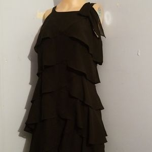 💟WHITE HOUSE BLACK MARKET RUFFLE DRESS SIZE 4